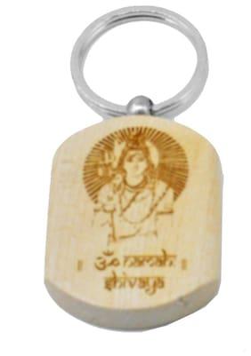 Om namah shivaya Engraved Handcrafted Wooden Key Chain