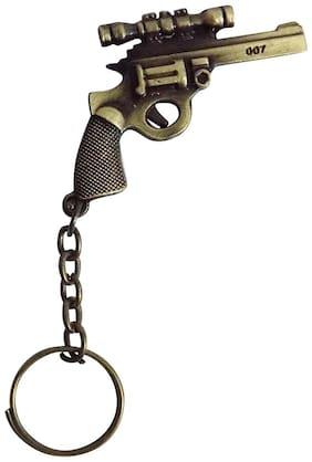 Omaya REVOLVER PUBG Gun's Keychain for Car/Bike/Locker (Gold) KEY CHAIN Key Chain