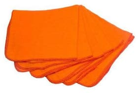 Orange Soft Cleaning Dusting Multipurpose Cloth 51 X 66 Cm - Pack of 6