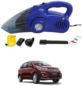 Oshotto 120W Heavy Duty Air Compressor Cum 100W Heavy Duty Car Vacuum Cleaner (2 in 1) Compatible with Maruti Suzuki Ertiga 2018-2021 - (Blue)