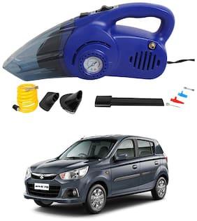 Oshotto 120W Heavy Duty Air Compressor Cum 100W Heavy Duty Car Vacuum Cleaner (2 in 1) Compatible with Maruti Suzuki Alto K10 - (Blue)