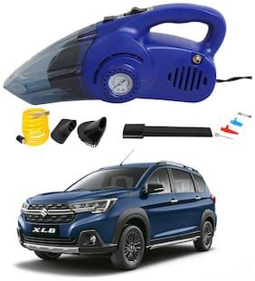 Oshotto 120W Heavy Duty Air Compressor Cum 100W Heavy Duty Car Vacuum Cleaner (2 in 1) Compatible with Maruti Suzuki XL6 -Blue