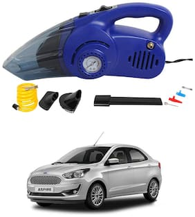 Oshotto 120W Heavy Duty Air Compressor Cum 100W Heavy Duty Car Vacuum Cleaner (2 in 1) Compatible with Ford Aspire - (Blue)