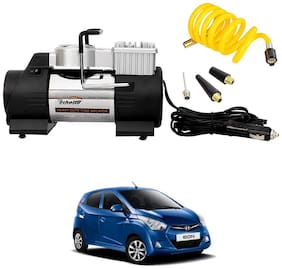 Oshotto 12V Double Cylinder Air Compressor/Tyre Inflator Compatible with Hyundai EON (Black)