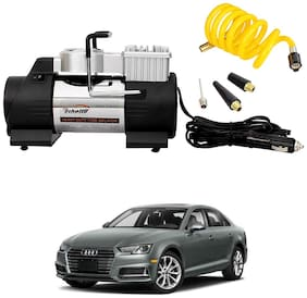 Oshotto 12V Heavy Duty Double Cylinder Air Compressor/Tyre Inflator Compatible with Audi A4 (2010-2016) (Black)