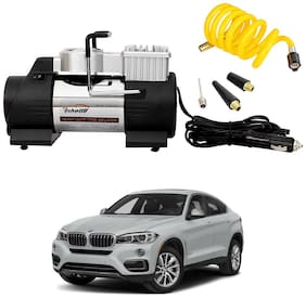 Oshotto 12V Double Cylinder Air Compressor/Tyre Inflator Compatible with BMW X6 (Black)