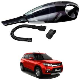 Oshotto 12V 100W Portable Car Vacuum Cleaner for Maruti Suzuki Brezza (Black)