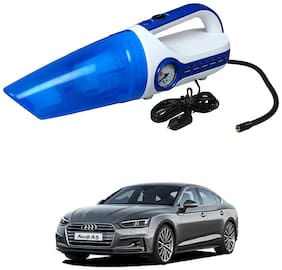 Oshotto 2 in 1 Car Vacuum Cleaner Cum Tyre inflator/Air Compressor for Audi A5 (White;Blue)