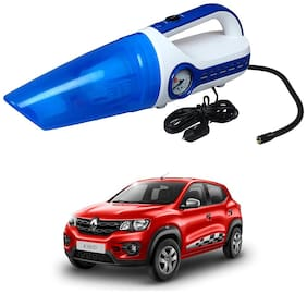 Oshotto 2 in 1 Car Vacuum Cleaner Cum Tyre inflator/Air Compressor for Renault Kwid (White;Blue)