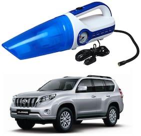 Oshotto 2 in 1 Car Vacuum Cleaner Cum Tyre inflator/Air Compressor for Toyota Land Cruiser Prado (White;Blue)