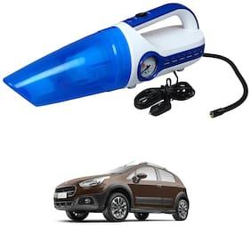 Oshotto 2 in 1 Car Vacuum Cleaner Cum Tyre inflator/Air Compressor for Fiat Avventura (White;Blue)