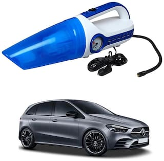 Oshotto 2 in 1 Car Vacuum Cleaner Cum Tyre inflator/Air Compressor for Mercedes-Benz B-Class (White;Blue)