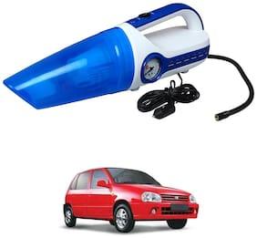 Oshotto 2 in 1 Car Vacuum Cleaner Cum Tyre inflator/Air Compressor for Maruti Suzuki Zen (White;Blue)