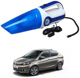 Oshotto 2 in 1 Car Vacuum Cleaner Cum Tyre inflator/Air Compressor for Tata Tigor (White;Blue)