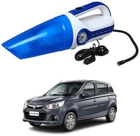 Oshotto 2 in 1 Car Vacuum Cleaner Cum Tyre inflator/Air Compressor for Maruti Suzuki Alto K10 (White;Blue)