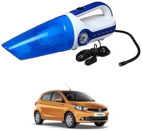 Oshotto 2 in 1 Car Vacuum Cleaner Cum Tyre inflator/Air Compressor for Tata Tiago (White;Blue)