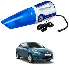 Oshotto 2 in 1 Car Vacuum Cleaner Cum Tyre inflator/Air Compressor for Maruti Suzuki Swift Dzire Old (2008-2016) (White;Blue)