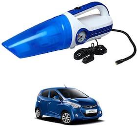 Oshotto 2 in 1 Car Vacuum Cleaner Cum Tyre inflator/Air Compressor for Hyundai EON (White;Blue)