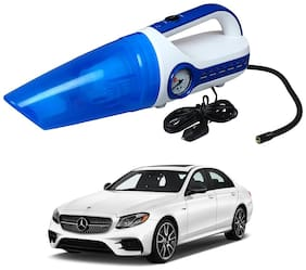 Oshotto 2 in 1 Car Vacuum Cleaner Cum Tyre inflator/Air Compressor for Mercedes-Benz E-Class 2017 -2021 (White;Blue)