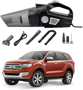 Oshotto 3-in-1  Tire Inflator Cum Car Vacuum Cleaner,with LED Light,12V DC Air Pump,15FT Cord with HEPA Filter and Nozzles Compatible with Endeavour