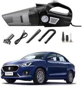 Oshotto 3-in-1  Tire Inflator Cum Car Vacuum Cleaner,with LED Light,12V DC Air Pump,15FT Cord with HEPA Filter and Nozzles Compatible with Maruti Suzuki Swift Dzire 2012-2021