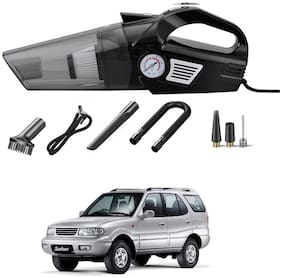 Oshotto 3-in-1  Tire Inflator Cum Car Vacuum Cleaner,with LED Light,12V DC Air Pump,15FT Cord with HEPA Filter and Nozzles Compatible with Tata Safari/Storme