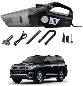 Oshotto 3-in-1  Tire Inflator Cum Car Vacuum Cleaner,with LED Light,12V DC Air Pump,15FT Cord with HEPA Filter and Nozzles Compatible with Toyota Land Cruiser 200