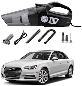 Oshotto 3-in-1  Tire Inflator Cum Car Vacuum Cleaner,with LED Light,12V DC Air Pump,15FT Cord with HEPA Filter and Nozzles Compatible with Audi A4 (2010-2016)