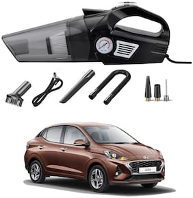 Oshotto 3-in-1  Tire Inflator Portable Car Vacuum Cleaner,with Tire Pressure Gauge and LED Light,12V DC Air Compressor Pump,15FT Cord with HEPA Filter and Nozzles Compatible with Hyundai Aura