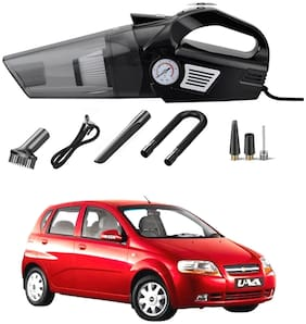 Oshotto 3-in-1  Tire Inflator Cum Car Vacuum Cleaner,with LED Light,12V DC Air Pump,15FT Cord with HEPA Filter and Nozzles Compatible with Chevrolet Uva Old/Uva Sail