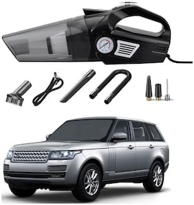 Oshotto 3-in-1  Tire Inflator Cum Car Vacuum Cleaner,with LED Light,12V DC Air Pump,15FT Cord with HEPA Filter and Nozzles Compatible with Rangerover Autobiography