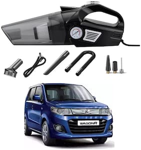 Oshotto 3-in-1  Tire Inflator Cum Car Vacuum Cleaner,with LED Light,12V DC Air Pump,15FT Cord with HEPA Filter and Nozzles Compatible with Maruti Suzuki WagonR 2010-2021