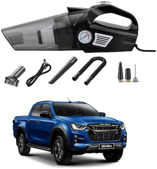 Oshotto 3-in-1  Tire Inflator Cum Car Vacuum Cleaner,with LED Light,12V DC Air Pump,15FT Cord with HEPA Filter and Nozzles Compatible with Isuzu D-Max V-Cross