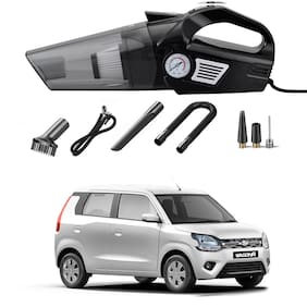 Oshotto 3-in-1  Tire Inflator Cum Car Vacuum Cleaner,with LED Light,12V DC Air Pump,15FT Cord with HEPA Filter and Nozzles Compatible with Maruti Suzuki WagonR 2019-2021