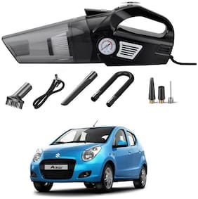 Oshotto 3-in-1  Tire Inflator Cum Car Vacuum Cleaner,with LED Light,12V DC Air Pump,15FT Cord with HEPA Filter and Nozzles Compatible with Maruti Suzuki A-Star