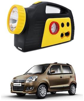 Oshotto 300PSI;12V Tire air pump/Compressor for Maruti Suzuki Wagon R 2010 Onwards (Black;Yellow)