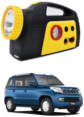 Oshotto 300PSI;12V Tire air pump/Compressor for Mahindra Tuv-300 (Black;Yellow)