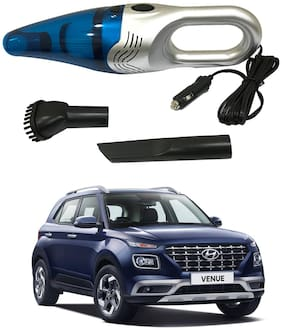 Oshotto 3500PA 12V (OSHO-VC-03) 100W Portable Car Vacuum Cleaner Compatible with Hyundai Venue (Silver)