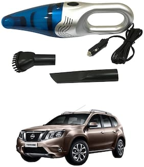 Oshotto 3500PA 12V (OSHO-VC-03) 100W Portable Car Vacuum Cleaner Compatible with Nissan Terrano (Silver)