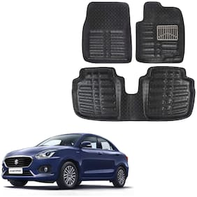 OSHOTTO 4D Black Artifical Leather Car Mat For Maruti Dezire