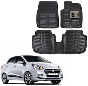 OSHOTTO 4D Black Artifical Leather Car Mat For Hyundai XCENT