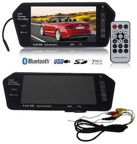 OSHOTTO 7 inch Full HD LED Monitor (USB & Bluetooth) Car Video Monitor;Care Rear View Screen Car Screen Car Monitor For Hyundai i20 Elite