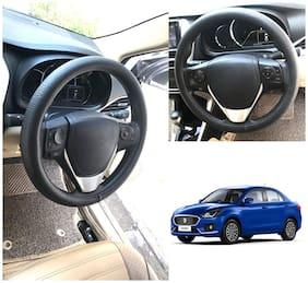 Oshotto Artifical Leather Car Steering Cover Compatible with Maruti Suzuki Swift Dzire 2012-2020 (Black)