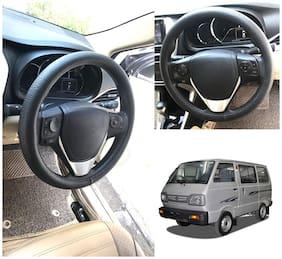 Oshotto Artifical Leather Car Steering Cover Compatible with Maruti Suzuki-Omni (Black)