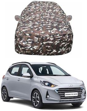 Oshotto/Recaro Ranger Design Made of 100% Waterproof Car Body Cover with Mirror Pockets for Hyundai i10 Nios