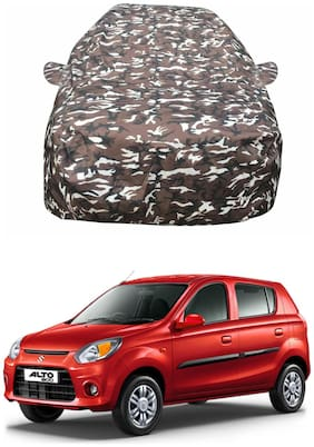 Oshotto/Recaro Ranger Design Made of 100% Waterproof Fabric Car Body Cover with Mirror Pocket for Maruti-Alto-800
