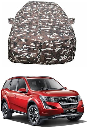 Oshotto/Recaro Ranger Design Made of 100% Waterproof Fabric Car Body Cover with Mirror Pockets for Mahindra XUV-500