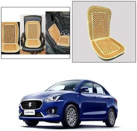 Oshotto Car Wooden Bead Seat Cushion with Velvet Border Compatible with Maruti Dzire 2017-2020 - (Beige)