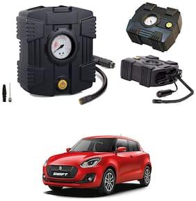 Oshotto  Compact Air Pump Tire Inflator/Compressor 300PSI Compatible with Maruti Suzuki Swift 2011 Onwards (Black)
