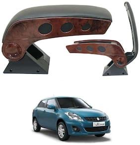 Oshotto Dual Tone Car Armrest Console Wooden & Chrome Compatible with Maruti Suzuki Swift Dzire Old
